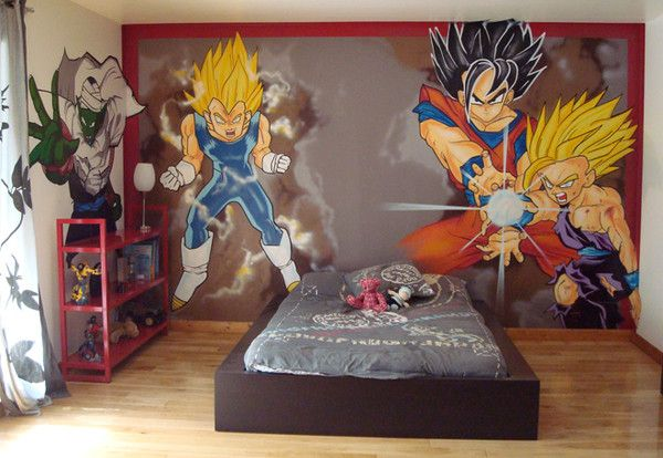 D coration int rieur graffiti chambres enfants for Decoration murale dragon ball